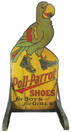 Lot: Poll-Parrot Shoes Sidewalk Sign, Lot Number: 0483, Starting Bid: $100, Auctioneer: Showtime Auction Services, Auction: Showtime's Spring, 2014 Auction, Session 1, Date: April 4th, 2014 EDT