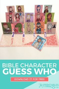 A game of guess who with bible characters! #jw #jworg #familyworship