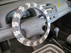 Crochet Steering Wheel Cover  another gift you need to make me @Lindsey Grande shervin!