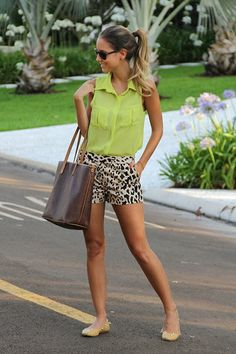neon greens and black and white prints for summer.