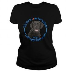 Personalized Name This Nurse loves her husband and her Labrador Shirts & Tees