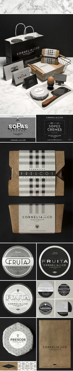 CORNELIA and CO [ Brand identity & Packaging ] by Oriol Gil, via Behance: Simple and clean