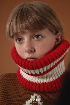 Neck warmer red.  more www.adererror.com Portrait Photography, Fashion Photography, Model Face, Art Model, Woman Face, Looking For Women, Fashion Details, Editorial Fashion, Color Pop