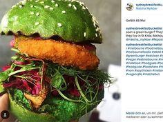 Burger-Trend aus Australien - knallgrünen Matcha Burger – und auch für Low-Carb-Fans gibt es eine kohlenhydratarme Variante des Matcha Burgers.
