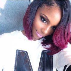 Bob Hairstyles For Black Women 60 great short hairstyles for black women Short Red Ombre Bob Black Women