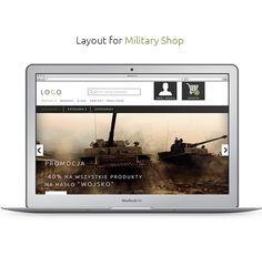 Layout for military shop.  https://www.behance.net/ercraft