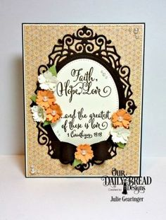 Our Daily Bread Designs Stamp Set: Let Love Grow, Paper Collection:Cozy Quilt, Custom Dies:Ornate Ovals, Pierced Ovals, Pierced Rectangles, Small Bow, Bitty Blossoms