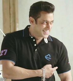#Salmankhan in Being Human Clothing in Black T-Shirt #BHC