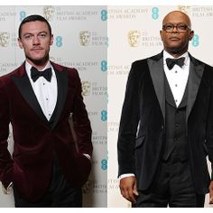 Samuel L. Jackson and Luke Evans looked dashing in these Hackett suits during the BAFTA's 2013!