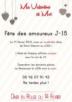 Messieurs, cette annonce est pour vous ! À très vite au 123 #saintvalentin #larochelle #bonplan #lagord #restaurantlarochelle