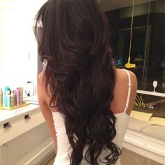 brown hair beautiful love the loose curls wish my hair looked like this