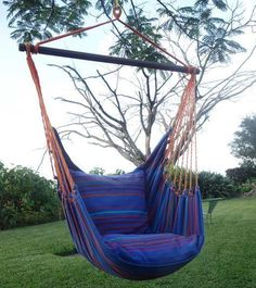 """- Beautiful Extra Large Hammock Chair That is Mold and Fade Resistant - Artisan Hand Crafted Fabric to Last for Years of Enjoyment - Includes Two Matching Pillow Shams (Requires 2 24"""" Pillows to fill #HammockChair #UniqueChair"""