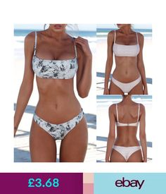 Swimwear Women Fashion Bandage Bikini Set Swimwear Push-Up Brazilian Beachwear Swimsuit #ebay #Fashion