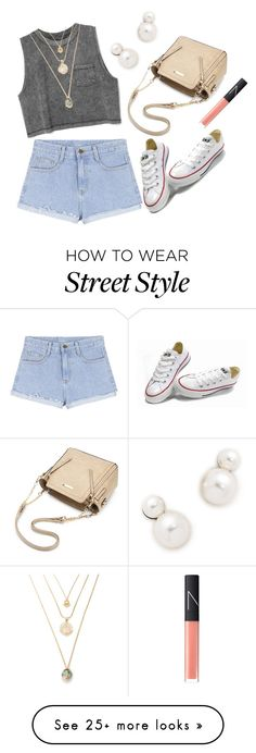 """Street Style"" by aria-star on Polyvore featuring Auden, Converse, NARS Cosmetics, StreetStyle and fashionset"