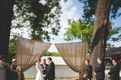 Burlap Wedding Ceremony Backdrop