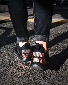 3899362d1c8d67 PUMA Muse Metal Sneakers NIB! In Black Rose Gold Break loose. The ...