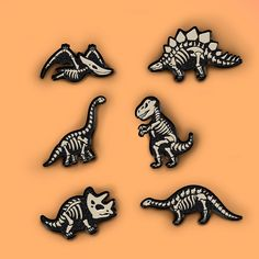 Dinosaurs Skeleton Pin by CatHedonist on Etsy