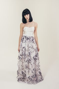 RTW Collection || E&W Couture || Mia Skirt || Black Floral || Sheer || Bridal Seperates || Alternative wedding dress