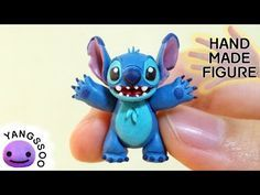 Stitch (Lilo and Stitch) Polymer Clay Miniature Character Figure Tutorial - YouTube
