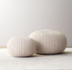 Knit Cotton Pouf | Ottomans & Poufs | Restoration Hardware Baby & Child