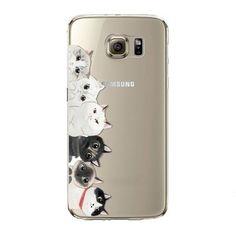 Cute Animal Pattern Slim Soft TPU Phone Case For Samsung Galaxy S5/S6/S6Edge/S6Edge Plus