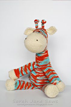 I love this little giraffe, but I don't think I'm skilled enough to make him, we'll see!