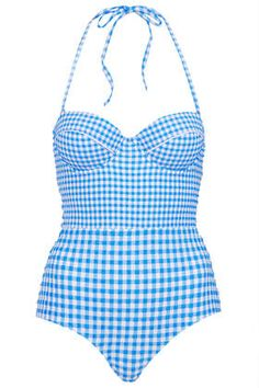 Topshop is getting all my summer cash this year because their swimsuits are en fuego! Gingham love!