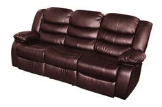 Bonded Leather Dream 3 Seater Recliner Couch (Brown) Smart Packaging, Night After Night, Pine Plywood, Sofa Home, Four Corners, Old Magazines, Recliners, Dust Mites, Bonded Leather