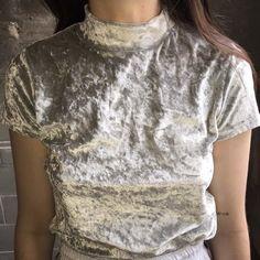 Silver Crushed Velvet Tee (more information, more gold)