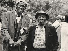 Dave Gahr     Taj Mahal and Mississippi John Hurt, Newport Folk festival     1964