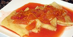 Crepes Suzette - Blood Orange, or Quince Liqueur - ABC TV: The Cook and the Chef