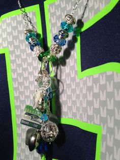 Seahawks Fan Necklace by BlingYourAGame on Etsy, $30.00