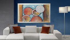 Capezzali moderni stilizzati dipinti con effetti materici in ...