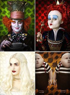 alice in wonderland tim burton.  We could do individual portraits of the characters like this.  Pretty sure me, Rachel, and Alyssa chalked this on your driveway once, Abi.