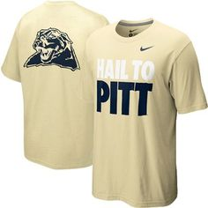 Nike Pittsburgh Panthers Hail to Pitt T-Shirt - Old Gold
