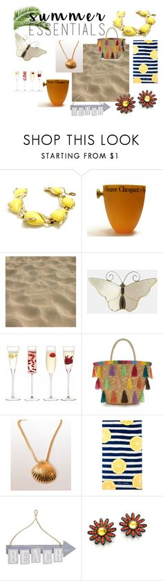 Beach Fun! by bohemiantrading on Polyvore featuring Trifari, CORO, Chloe + Isabel, Pier 1 Imports, LSA International and vintage
