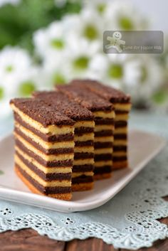 Chocolate Vanilla Kek Lapis / Lapis Legit / Spekkoek/ Indonesian Layer Cake