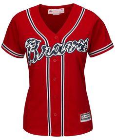 Majestic Women's Atlanta Braves Cool Base Jersey - Red S Braves Game, Braves Baseball, Baseball Jerseys, Baseball Jersey Outfit, Atlanta Braves Hat, Baby Clothes Shops, Trendy Plus Size, Shopping, Fan