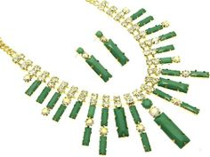 Green link crystal stone necklace and earring set Fashion Jewelry Costume Jewelry fashion accessory Beautiful Charms Beautiful Charms CRYSTAL fashion jewelry, NECKLACES if you wish to buy just CLICK on AMAZON right HERE  http://fashiongiftjewelrysets.blogspot.COM/2013/12/fashion-gift-jewelry-sets-unique.html #Jewelry_Sets #Sterling #Gold #Necklaces #Pendants #jewelry #accessories #Ring #Diamond #love
