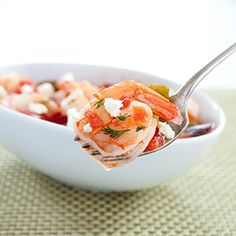 Greek-Style Shrimp with Tomatoes and Feta Recipe - America's Test Kitchen Radio from America´s Test Kitchen Radio Greek Recipes, Quick Recipes, Fish Recipes, Seafood Recipes, New Recipes, Favorite Recipes, Healthy Recipes, Chives Recipes, Healthy Gourmet