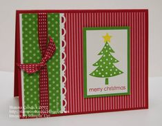 Polka Dot Christmas Tree by stampinshauna - Cards and Paper Crafts at Splitcoaststampers