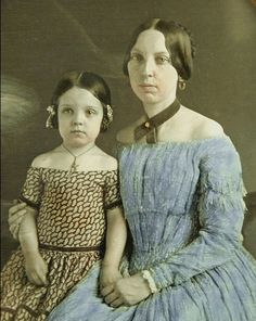 Civil War Era Mother and Daughter