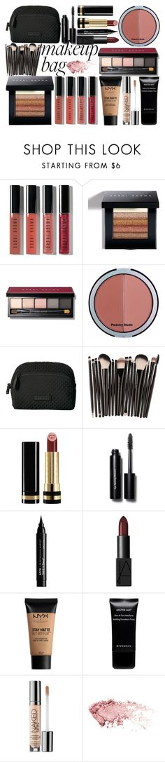"""""""makeup"""" by biebergirl1013 ❤ liked on Polyvore featuring beauty, Bobbi Brown Cosmetics, City Color, Vera Bradley, Gucci, NYX, Givenchy, Urban Decay and makeupbag"""