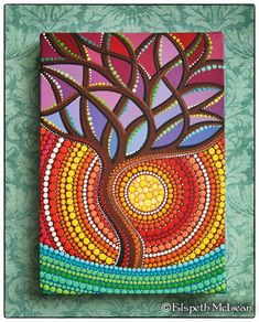 Tree of Vibrant Life Painting by Elspeth McLean #elspethmclean #vibrant #treeoflife: