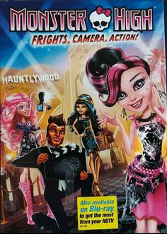 Draculaura seeks the Vampire's Heart in 'Monster High: Frights, Camera, Action' Action Movies To Watch, Action Movie Poster, Movies To Watch Free, Movie Posters, Action Film, Arte Monster High, Monster High Dolls, Monster Girl, Action Pose Reference