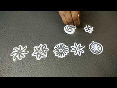 Using ear buds simple and easy small designs Diwali Decorations, Simple Rangoli, Rangoli Designs, Bud, Flower Arrangements, Finger, Dots, Flowers, Youtube