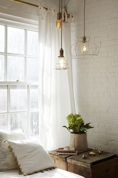white brick wall interior - how to make white brick wall - white brick wall living room - white brick wall bedroom - white brick wall goa - white brick wall room - white brick wall hd - white brick wall kitchen Interior Design, House Interior, Interior, Brick Interior, Bedroom Design, Home Bedroom, Rustic Bedroom, Home Decor, Industrial House
