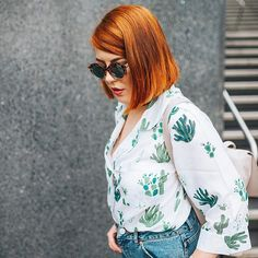 Thank goodness wearing pyjamas as everyday wear is now cool because these cactus-printed ones need to be shown off. #AsSeenOnMe