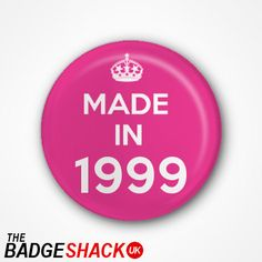 15th Birthday Pin Badge or Magnet. Available as 2.5cm Pin Badge or 3.8cm Pin Badge or Magnet