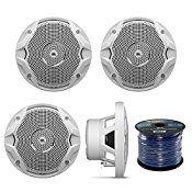 jbl marine speakers. 4 x new jbl 150 watts marine boat yacht outdoor waterproof stereo audio speakers system with 50 ft. jbl